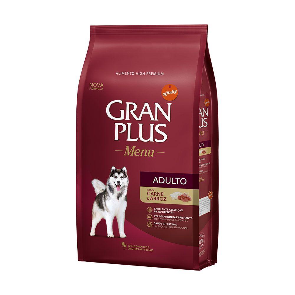 Ração GranPlus Guabi Menu Sabor Carne e Arroz - Cães Adultos