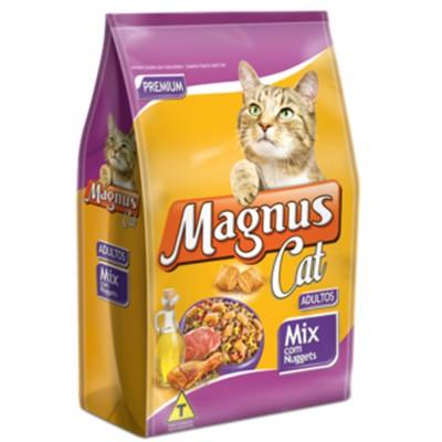 Ração Magnus Cat Mix c/ Nuggets Gatos Adultos