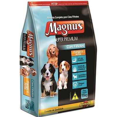 Ração Magnus Super Premium Frango e Arroz - Cães Filhotes