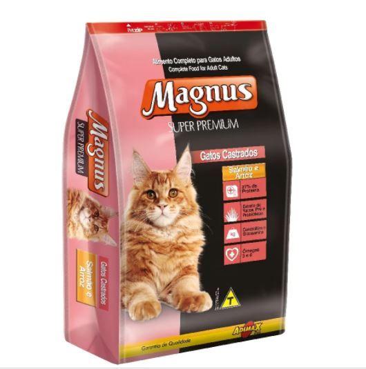Ração Magnus Super Premium Salmão e Arroz - Gatos Castrados 10,1kg