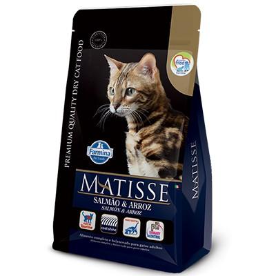 Ração Matisse Salmão e Arroz - Gatos Adultos