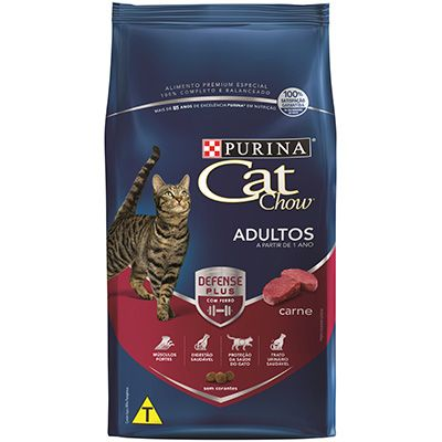 Ração Cat Chow Adultos Carne 10,1kg