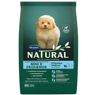 Ração Guabi Natural Cães Filhotes Indoor – Super Premium - Mini e Pequeno Porte