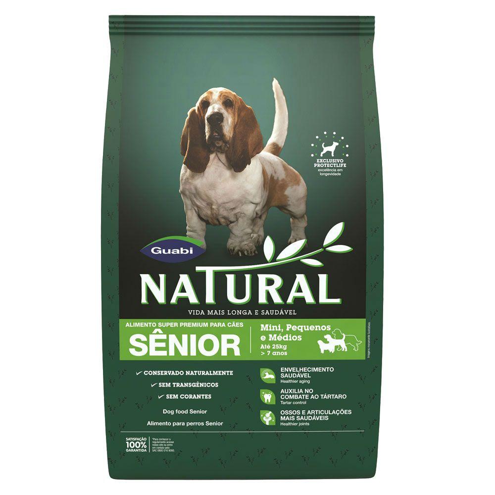 Ração Guabi Natural Senior - Super Premium - Cachorros Mini e Pequeno Portes