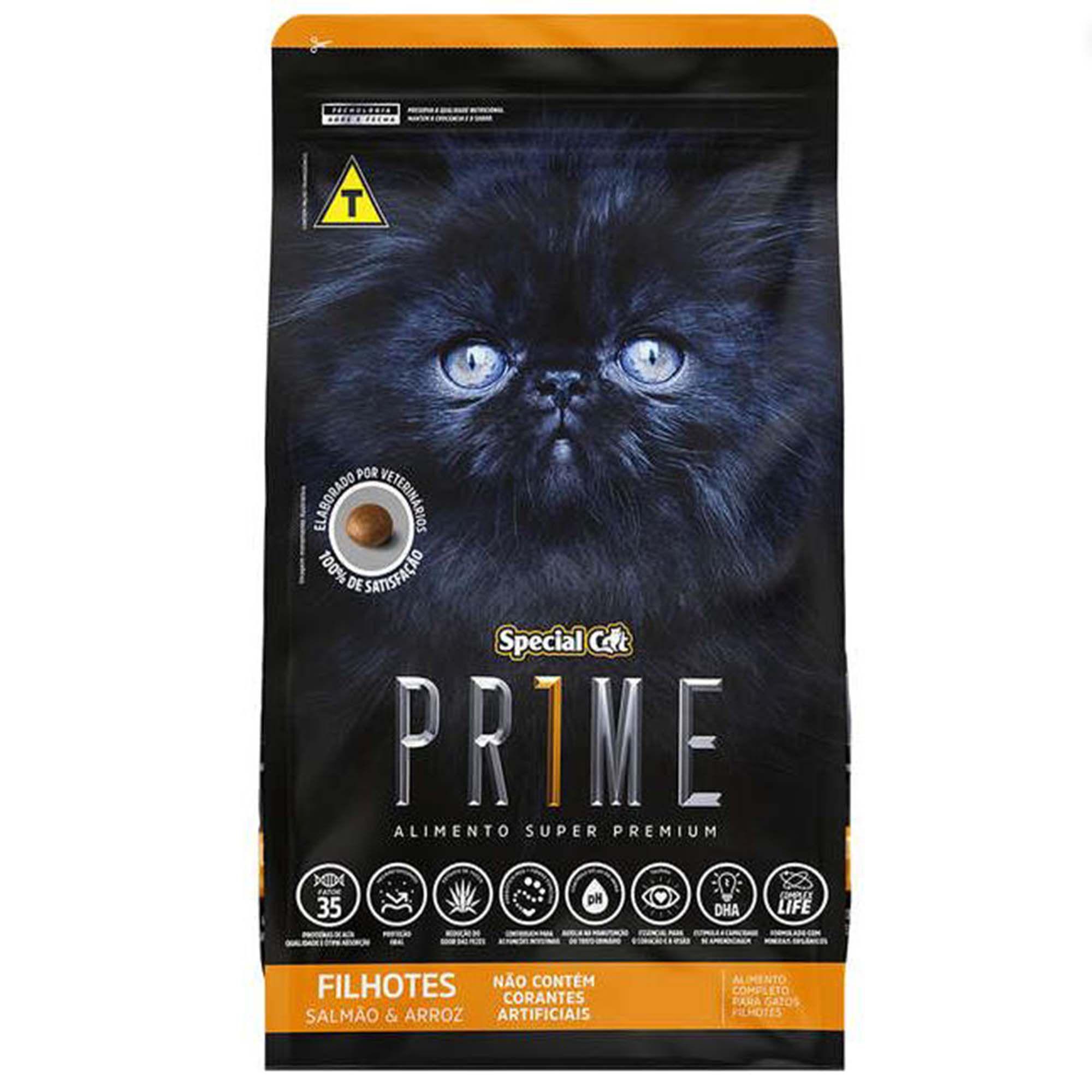 Ração Special Cat Prime Salmão e Arroz - Gatos Filhotes