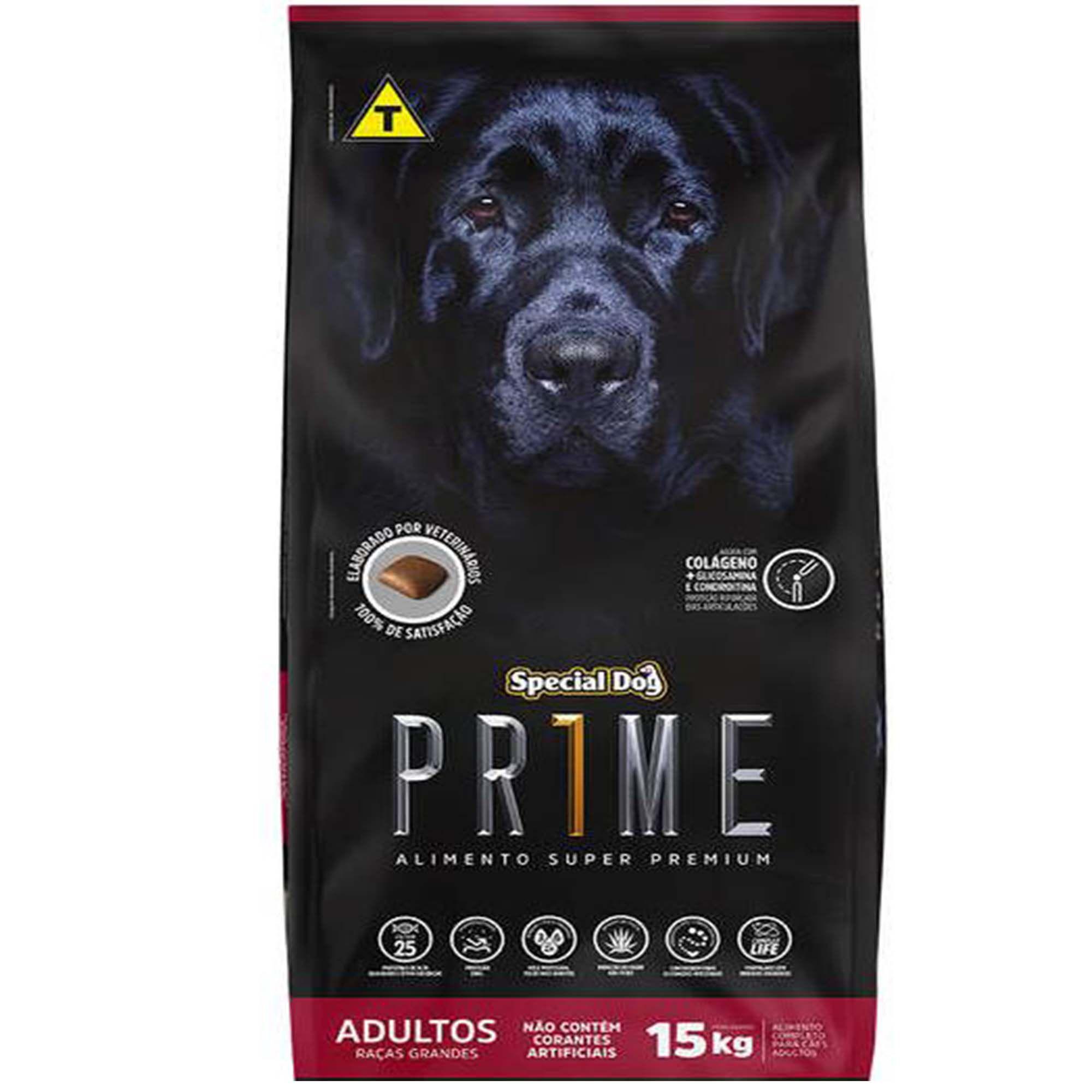 Ração Special Dog Prime - Cachorro Adulto de Raça Grande ou Gigante - 15kg