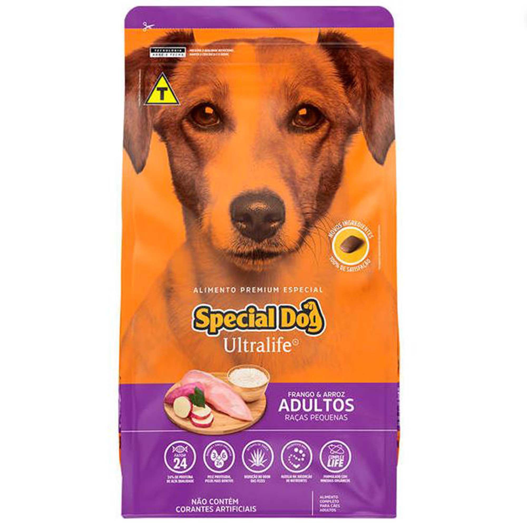 Ração Special Dog Ultralife Frango e Arroz - Cão Adulto de Raça Pequena