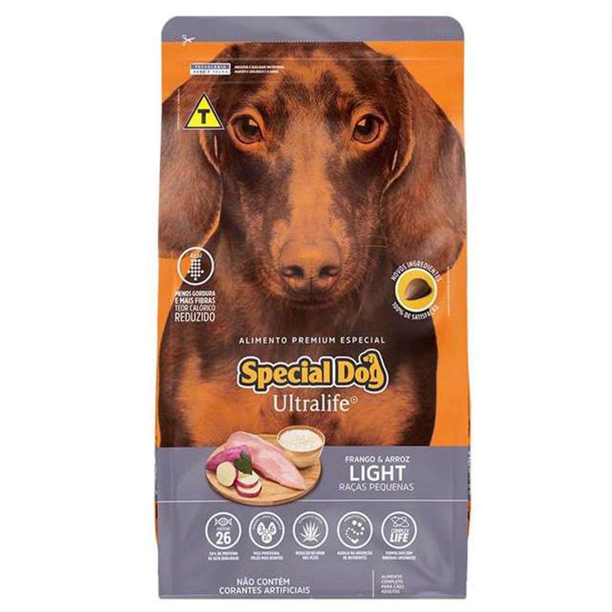 Ração Special Dog Ultralife Light - Frango e Arroz - Cães de Raças Pequenas