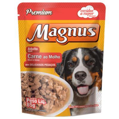 Sachê Magnus Premium Cães Adultos Sabor Carne ao Molho 85g