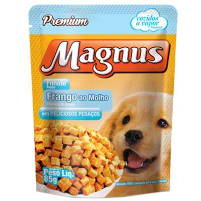 Sachê Magnus Premium Cães Filhotes Sabor Frango ao Molho 85g