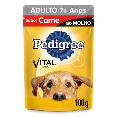 Sachê Pedigree 7+ Anos - Carne ao Molho 100g