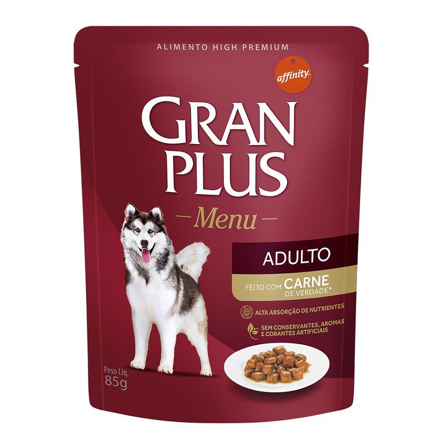 Sachê GranPlus Guabi  Menu Carne - Cães Adultos - 85g