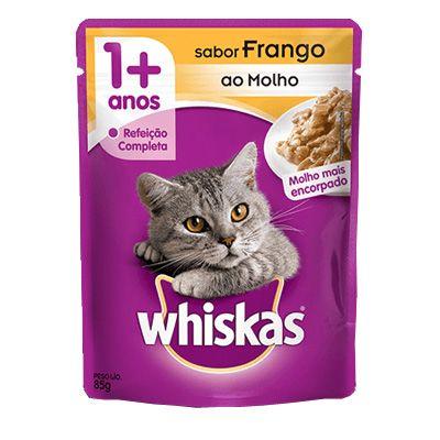 Sachê Whiskas Gatos Adultos Sabor Frango ao Molho 85g