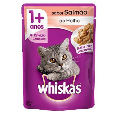 Sachê Whiskas Salmão ao Molho 85g