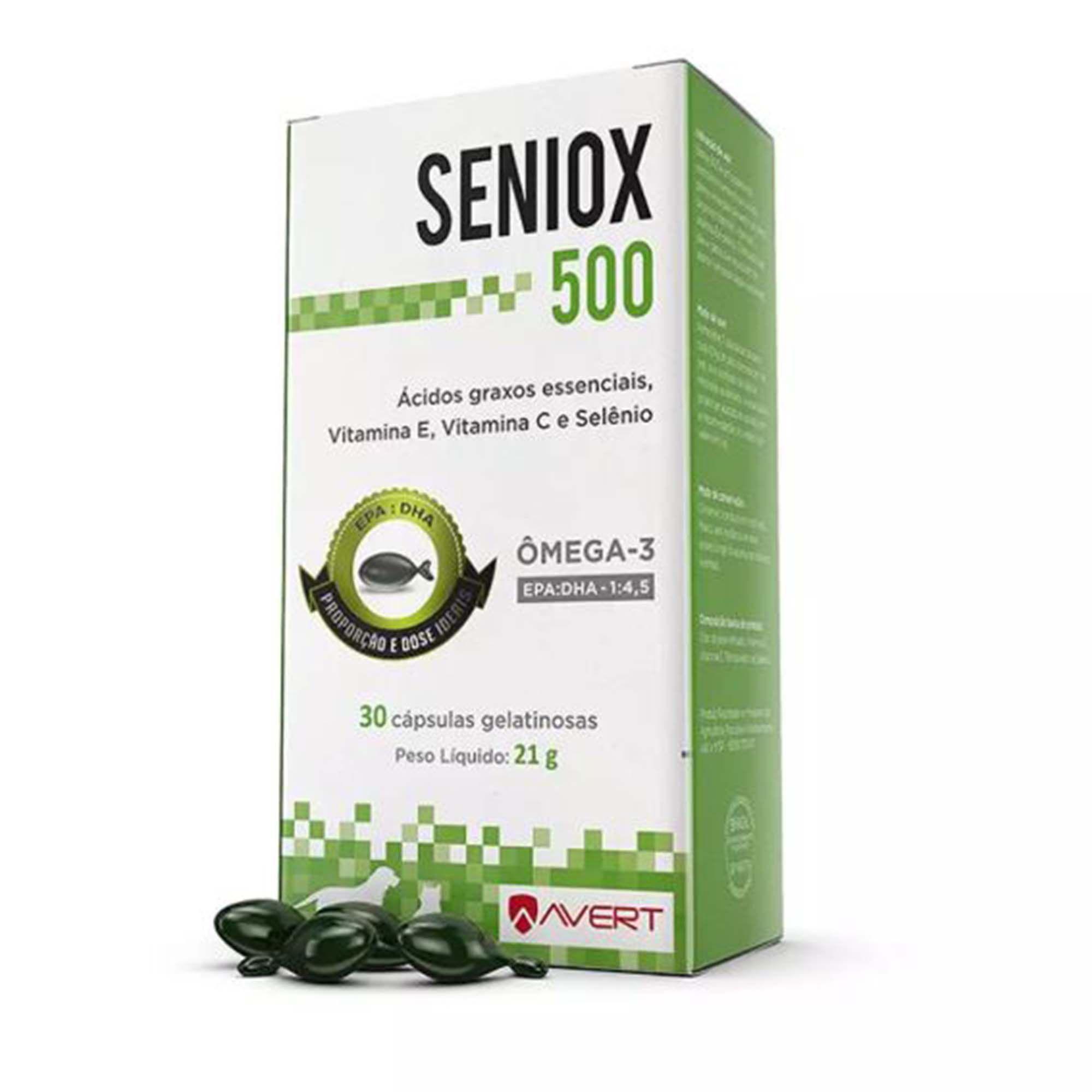 Seniox Suplemento Vitamínico Avert 500mg 30 Cápsulas