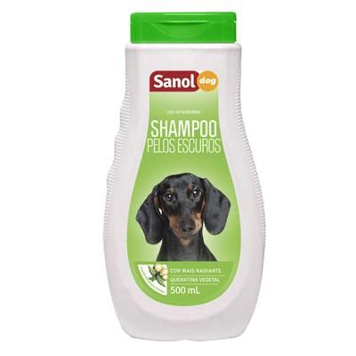 Shampoo Sanol Dog Pelos Escuros 500ml