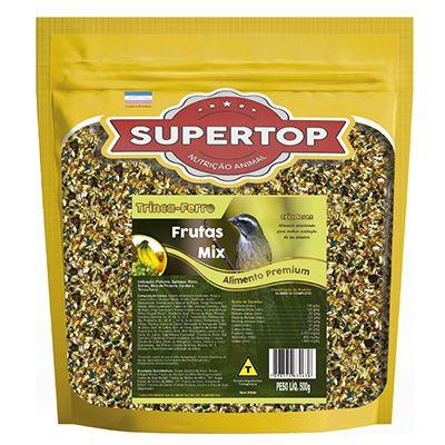 Supertop Mix de Frutas Trinca Ferro, Sofreu, Sanhaço, Melro e Cardeal - Alimento premium – 500g