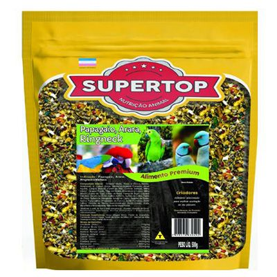Supertop Papagaio, Arara e Ringneck - Alimento premium – 500g