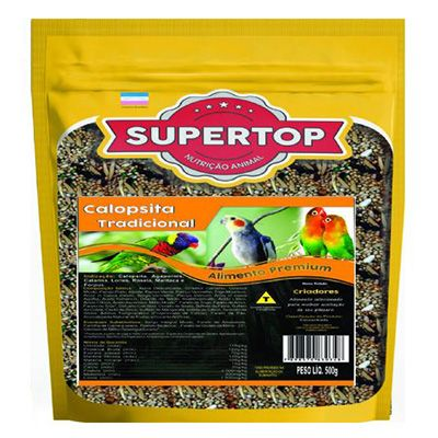 Supertop Tradicional Calopsita e Agapornis - Alimento premium – 500g