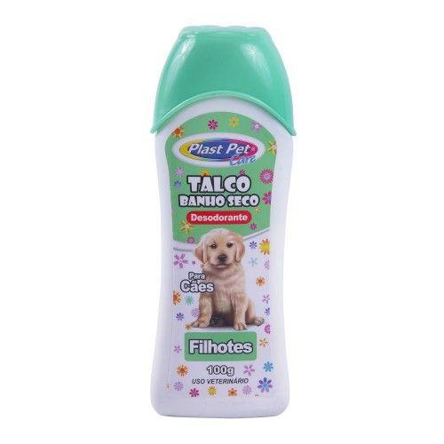Talco Banho Seco Plast Pet Care Filhotes 100g