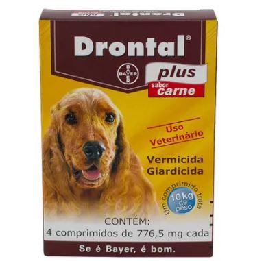 Vermífugo Drontal Plus Sabor Carne - Cães 10 Kg