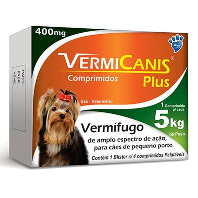 Vermífugo VERMICANIS Plus 400mg - Unidade