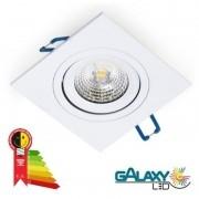 Kit 15 Spot Led 5w Direcionável Embutir Quadrado Luz Quente 3000k
