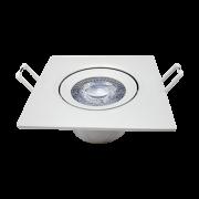 Kit 15 Spot Led 7w Direcionável Embutir Quadrado Luz Neutra