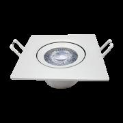 Kit 16 Spot Led 5w Direcionável Embutir + 4 Plafon 18W quente