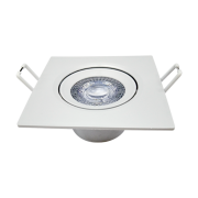 Kit 26 Spot Led 5w Direcionável Embutir Quadrado Luz Neutra