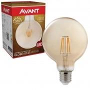 kit 50 Lâmpada LED de Filamento Globo G125 Luz Âmbar 4W