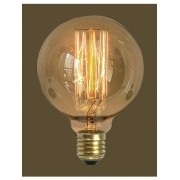 Kit 6 Lampada Vintage Retrô Filamento De Carbono G125 60W 220V