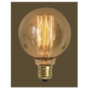 Lampada Vintage Retro Thomas Edison Filamento De Carbono G125  60W 220V