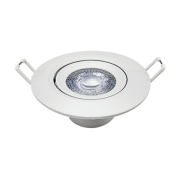 Spot Embutir Led 5w Direcionavel Redondo Luz Neutra Garantia