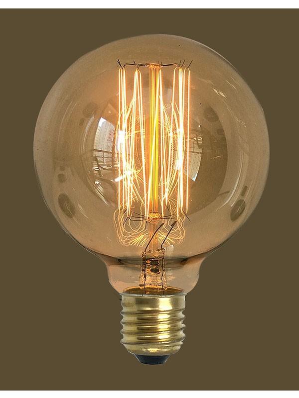 4 Lampada Vintage Retrô Filamento De Carbono G125 127V