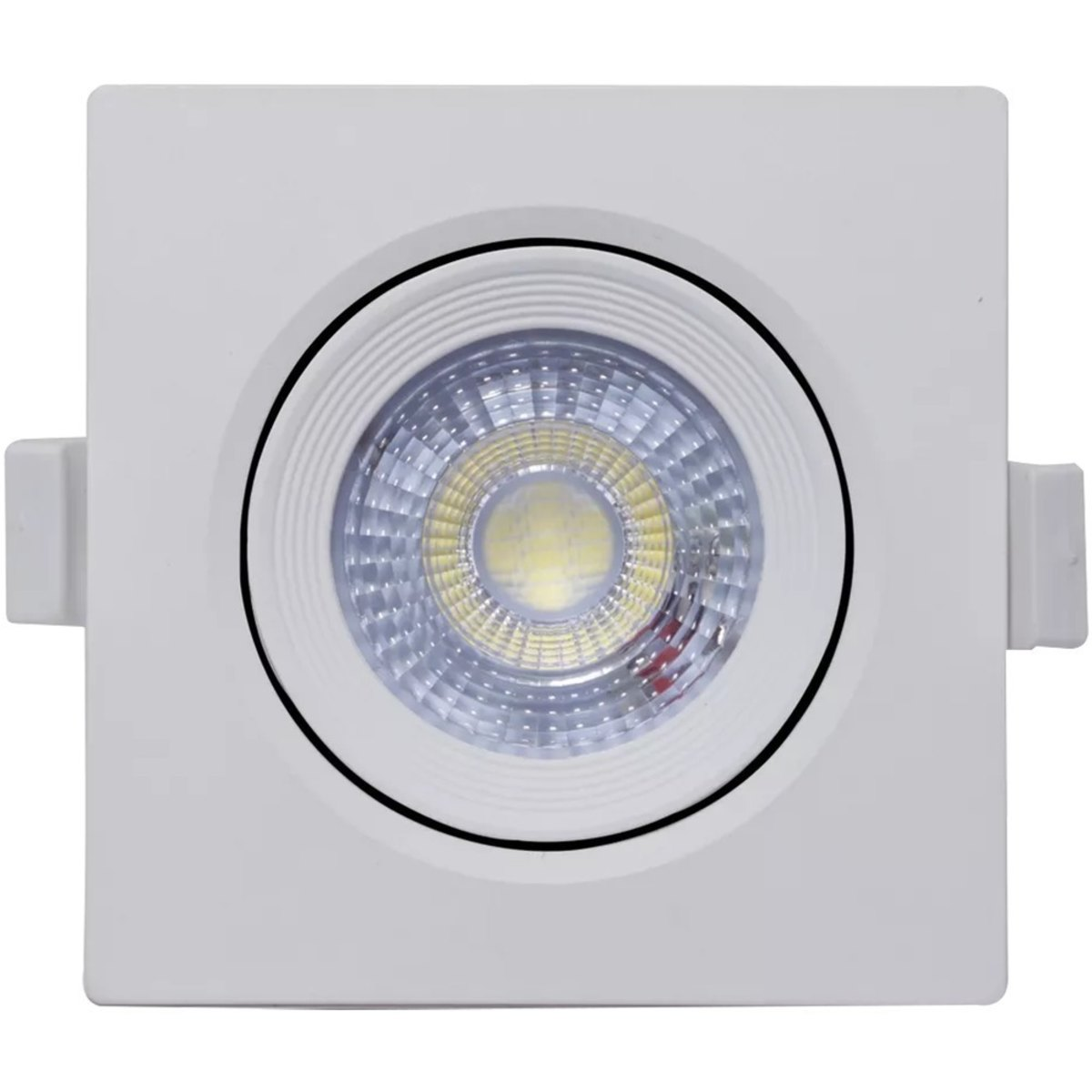 8 Spot Led 5w Direcionável Embutir Quadrado Luz Quente