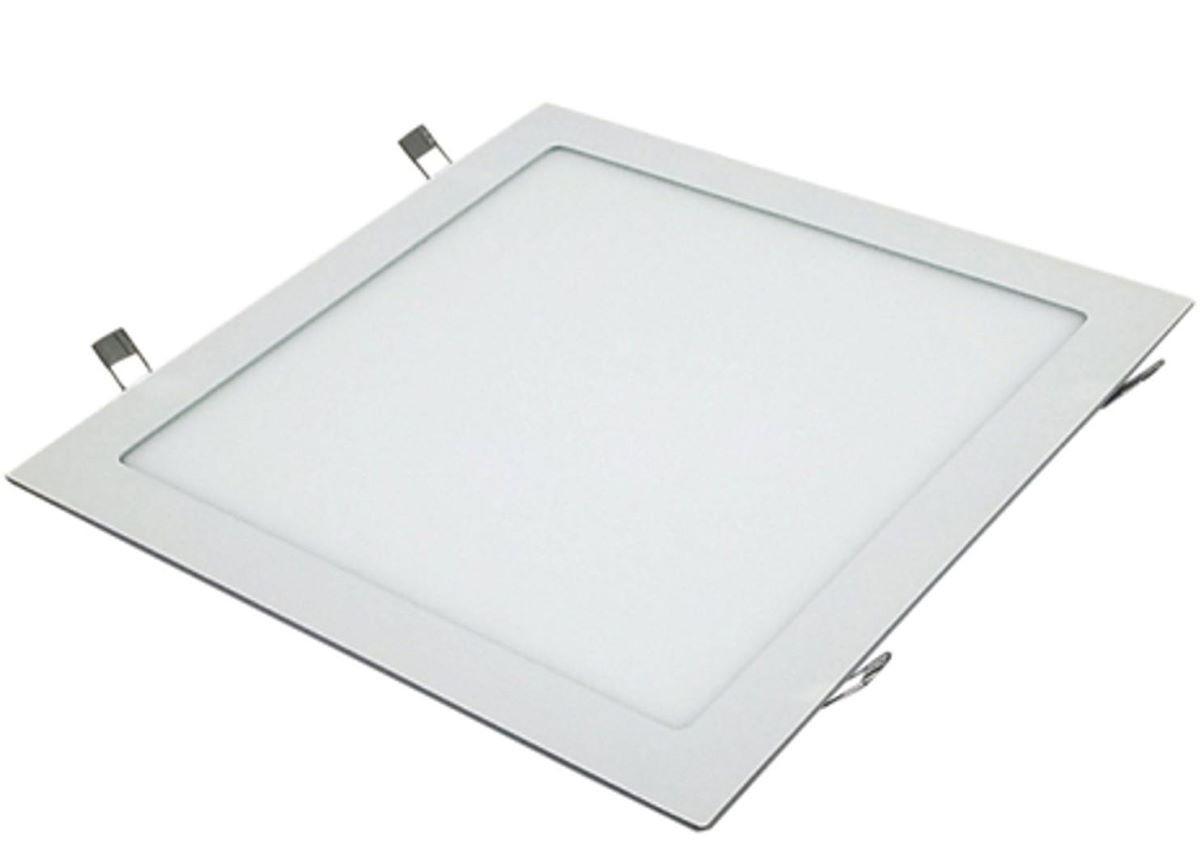 Kit 10 Painel Plafon Led Embutir 12w Quadrado Luminaria Quente