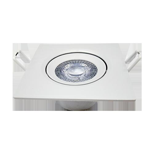 KIT 15 Spot Led 5w Direcionável Embutir Quadrado Luz Fria