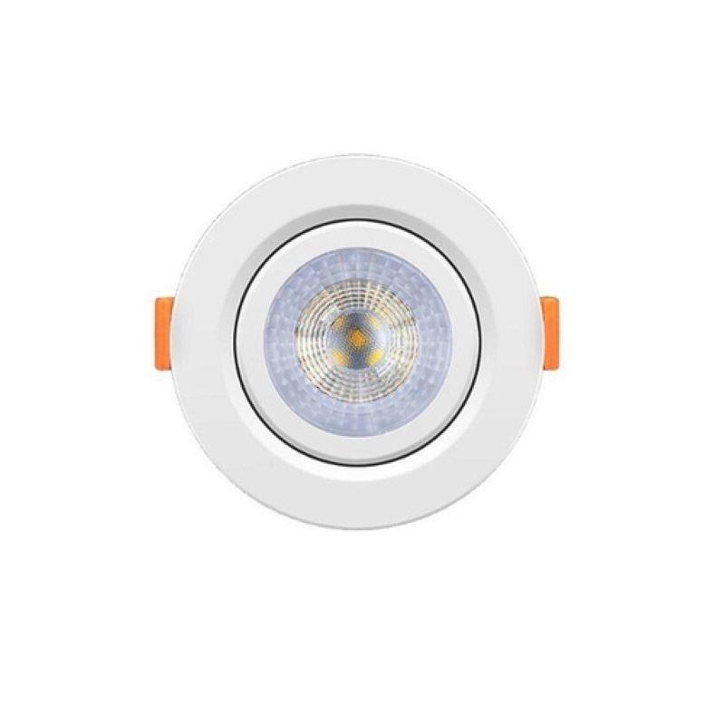 Kit 15 Spot Led 5w Direcionável Embutir Redondo Luz Frio