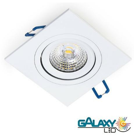 kit 16 Spot Embutir Led 5w Direcionavel Quadrado Luz Quente Garantia
