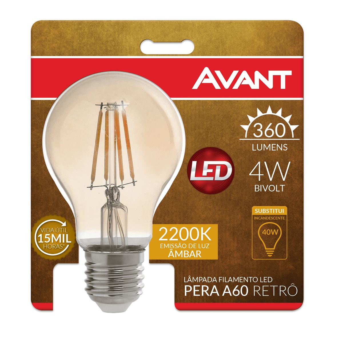 kit 2 Lâmpada LED de Filamento Pera ST64 + A60 LED