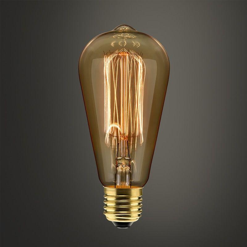 Kit 3 Lampada Filamento Carbono St64 40w 2400k  220v Dimer