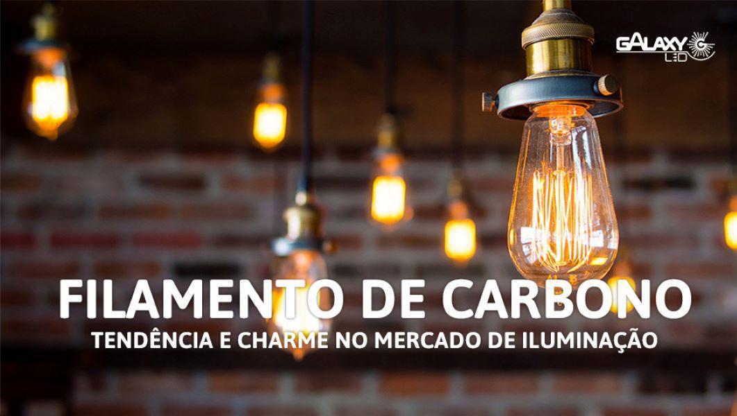 KIT 5 Lampada Vintage Retrô Filamento De Carbono G125  60W 220V