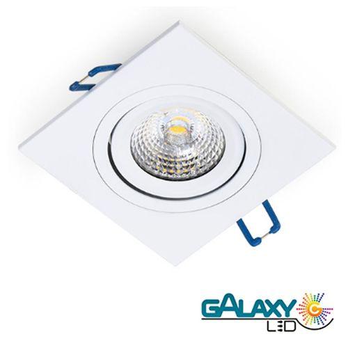 Kit 5 Spot Embutir Led 5w Direcionavel Quadrado Luz Quente