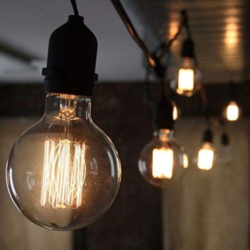 Kit 6 Lâmpada LED de Filamento Globo G125 Luz Âmbar 4W