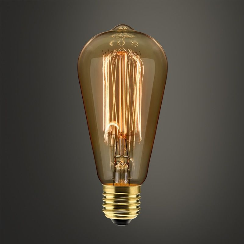 KIT Lâmpada Filamento Carbono  01 ST 30  + 1 ST64 40w 220V