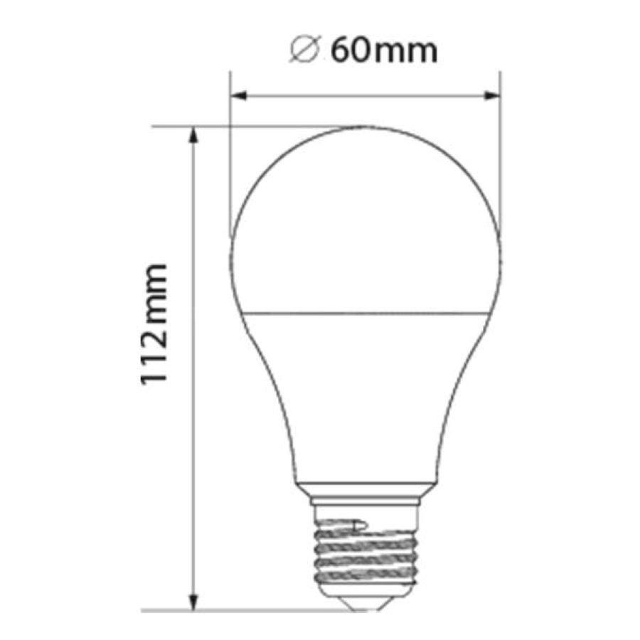 Lampada de Led Bulbo 12W E27 Branca Fria 6500k Garantia GalaxyLed