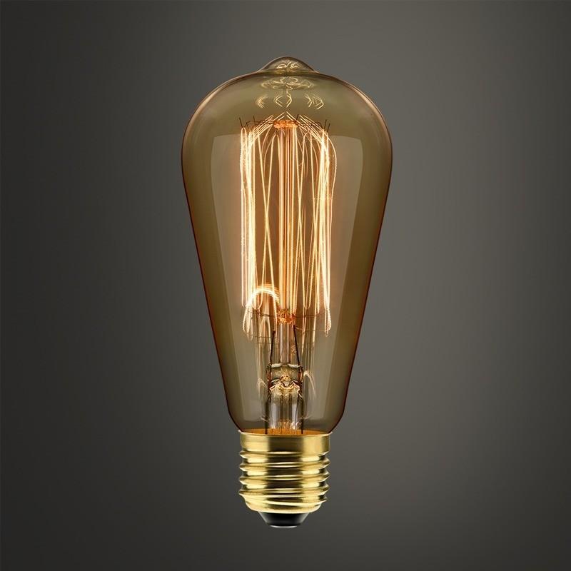 Lampada Filamento Carbono St64 40w 2400k  110v Dimerizavel