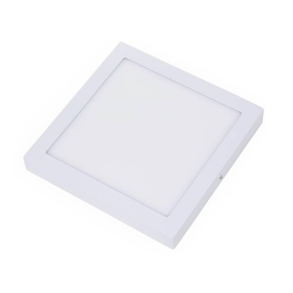 Painel Plafon Led Sobrepor 18w 3000k Luz Quente Quadrado