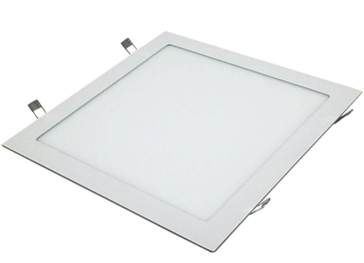 Painel Plafon Led Embutir 18w Quadrado Luminaria Led Fria